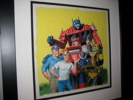 1984 Transformers : The Great Car Rally p.33 (Optimus Prime , Bumblebee, Cliffjumper), Comic Art