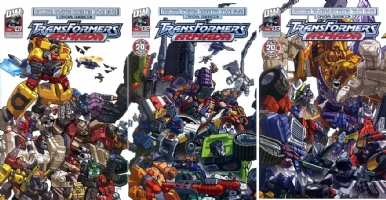 2004 Transformers Armada : More Than Meets The Eye Covers 1-3 Published Comic Art