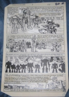 1984 Marvel Transformers: Generation 1; Issue 1, Page 20 (Autobots), Comic Art