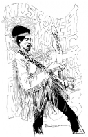 Bill Sienkiewicz, Jimi Hendrix  Comic Art