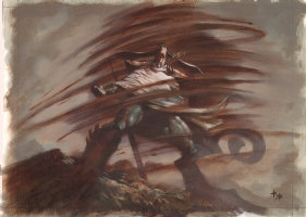 Greg Staples, Magic the gathering whirlwind of stones  Comic Art