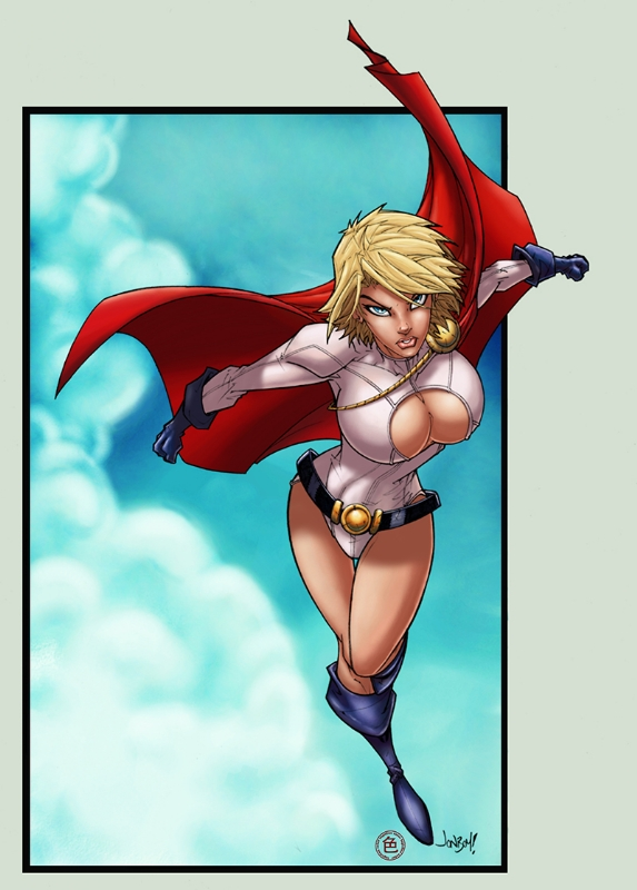 Power Girl 049 (colored) Comic Art
