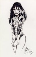 Mark Bagley - Mary Jane Watson In Spidey Suit Sketch Comic Art