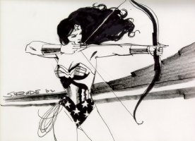 Steve Rude - Wonder Woman Sketch Comic Art