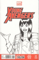 Mary Jane as America Chavez on  Young Avengers  Comic Art