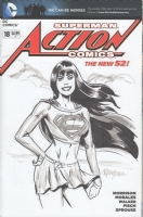Mary Jane as Supergirl on  Action Comics  Comic Art