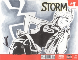 Mary Jane as Storm on  Storm  Comic Art