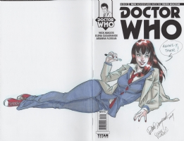 Mary Jane as the Tenth Doctor on  Doctor Who  Comic Art