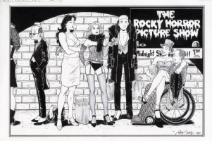 SiP cast going to see Rocky Horror Comic Art