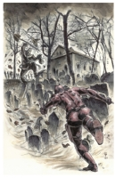 Daredevil versus The Scarecrow  Grave Encounter  by Seth Frail  Comic Art