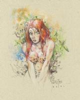 Jungle redhead Comic Art