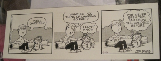 Garfield Comic Strip 6-13-79 Comic Art