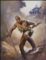 Boris Vallejo Doc Savage 'Angry Ghost' Cover Comic Art