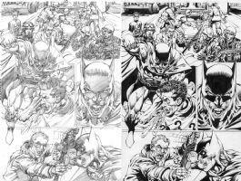Scott Williams inks on Neal Adams Batman Comic Art