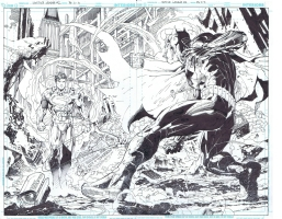 Justice League #2 by Jim Lee and Scott Williams Comic Art