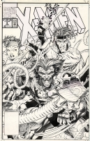 Xmen 4 cover by Jim Lee and Scott Wiliams Comic Art