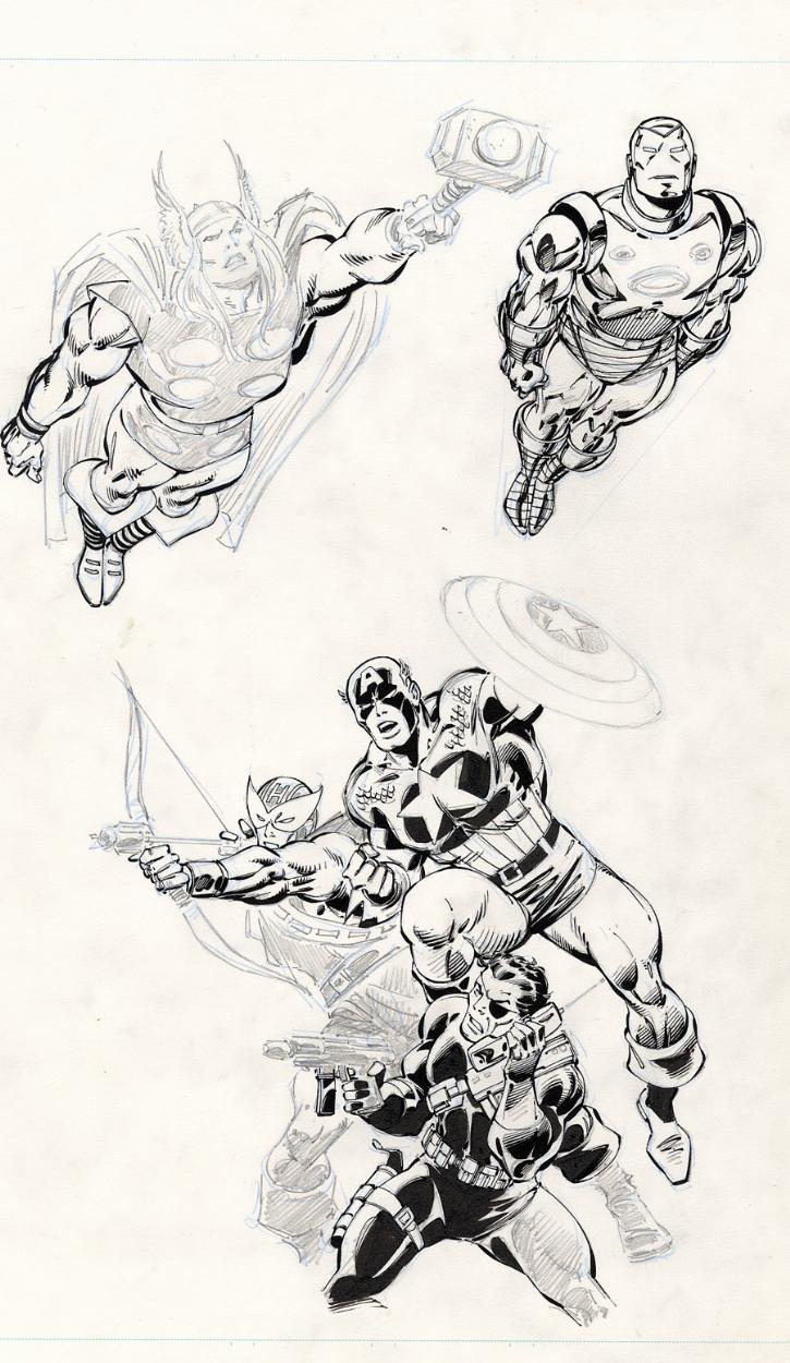 John Buscema Heroes Comic Art