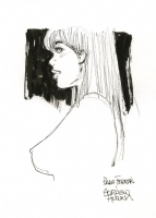 Sketch of a girl by Horacio Altuna Comic Art