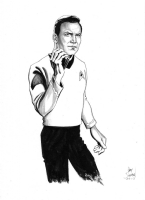 Star Trek Captain Kirk Original Art by Gary Shipman, Comic Art