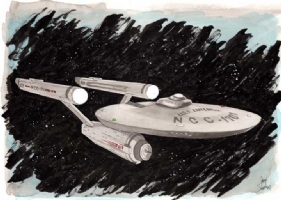 Star Trek Enterprise Original Art by Gary Shipman, Comic Art