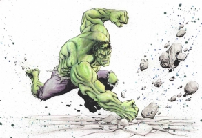 Hulk Smash Original 13x19 Art by Gary Shipman, Comic Art