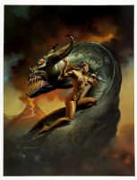 boris vallejo : mythology calendar 1992 cover basilisk Comic Art