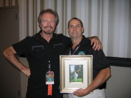 Michael Whelan & Chris with Painting, Comic Art