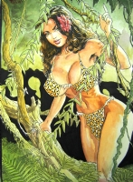 Cavewoman Painting (After), Comic Art