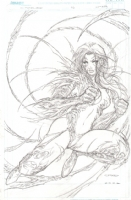 Witchblade 1/2 Cover Comic Art