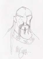 Mignola Koshchei Hellboy Darkness calls sketch Comic Art