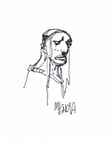 Mignola Baba Yaga sketch Comic Art