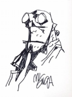 01 Mignola Hellboy sketch Comic Art