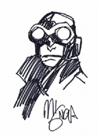 Mignola Lobster Johnson sketch Comic Art