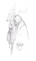 Mignola Old Man Giurescu sketch Comic Art