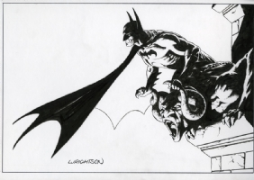 Batman done Wright Comic Art