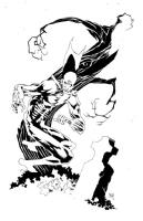 Kelley Jones Deadman Comic Art