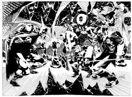 Kelley Jones Batman & Rogues Comic Art