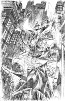 Angel Medina Batman Comic Art