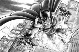 Batman solo Comic Art