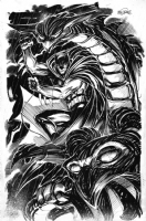 Tom Mandrake Batman Comic Art