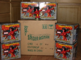 Spider-Woman mini busts Comic Art