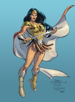 Terry Dodson, Jay Leisten & Steve Downer - Wonder Woman (Donna Troy) (Color) Comic Art