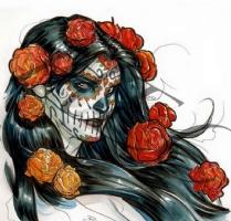 Dia de Los Muertos ( day of the dead ) Comic Art
