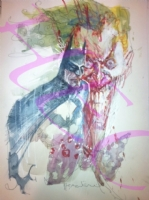 Batman & Joker by Bill Sienkiewicz Comic Art
