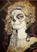 La Muerta Tony Daniel dia de los  muertos Comic Art