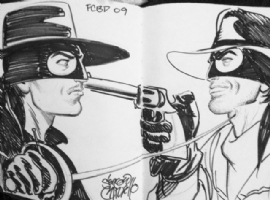 The Lone Ranger vs Zorro Comic Art