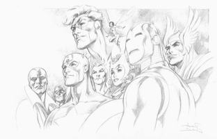 Alan Davis Avengers Pencils Comic Art