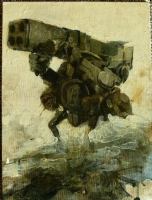 Ashley Wood WWR Heavy bramble oil painting, Comic Art