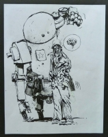 Ashley Wood  Cover Zombies Robots Amazons. Popbot., Comic Art