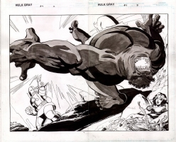 Tim Sale. HULK gray. DPS #4, page 2-3., Comic Art